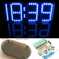 Free Shipping Wholesale Price Colorful LED Screen Large Screen DIY Clock Electronic DIY Kit Aluminum Cover and Acrylic case