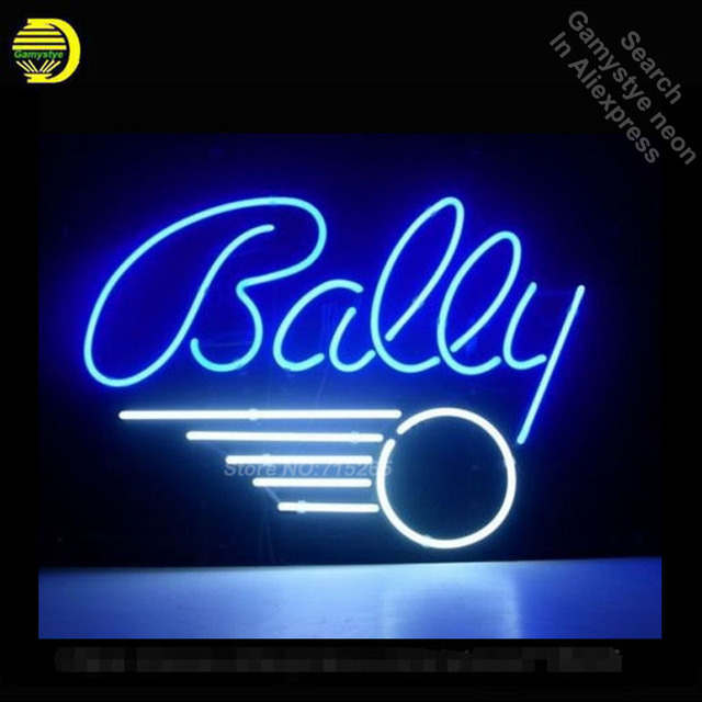 c0dc1a8eb20c BALLY PINBALL GAME Neon Sign Recreation Game Room WALL Handcraft Neon Bulbs  Glass Tube Store Display Commercial Lamp VD 17x14