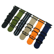 New arrive sport woven nylon for apple watch band 38mm 42mm wrist braclet adjust nylon for iwatch strap series 1/2/3