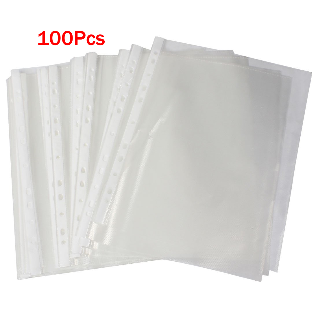 10pack (Office A4 Papers Document Sheet Protector Clear White