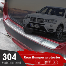 High Quality Stainless steel Rear Bumper Protector Guard Sill Plate Steel2011 2012 2013 For BMW X3 F25