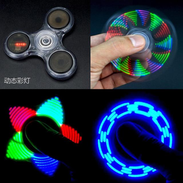 Игрушка световая Непоседа светодиодный Спиннер стресс ручной Спиннер светящийся Темный Figet Spiner Cube анти-стресс палец спиннер-антистресс E