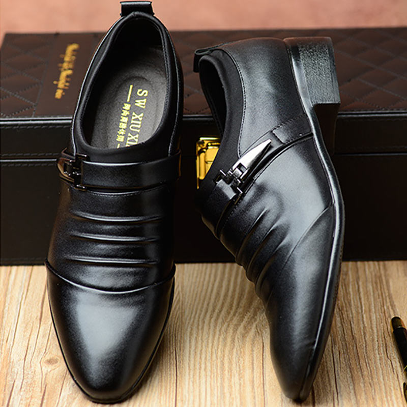 Classic Men Casual Shoes Leather Sapato Social Formal Shoes Business Shoes Lace Up Oxford Shoes For Men Zapatos Hombre