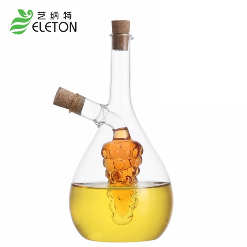 ELETON Environmental protection large oil leak proof glass kitchen seasoning oil vinegar sauce bottle oiler vinegar boats gift