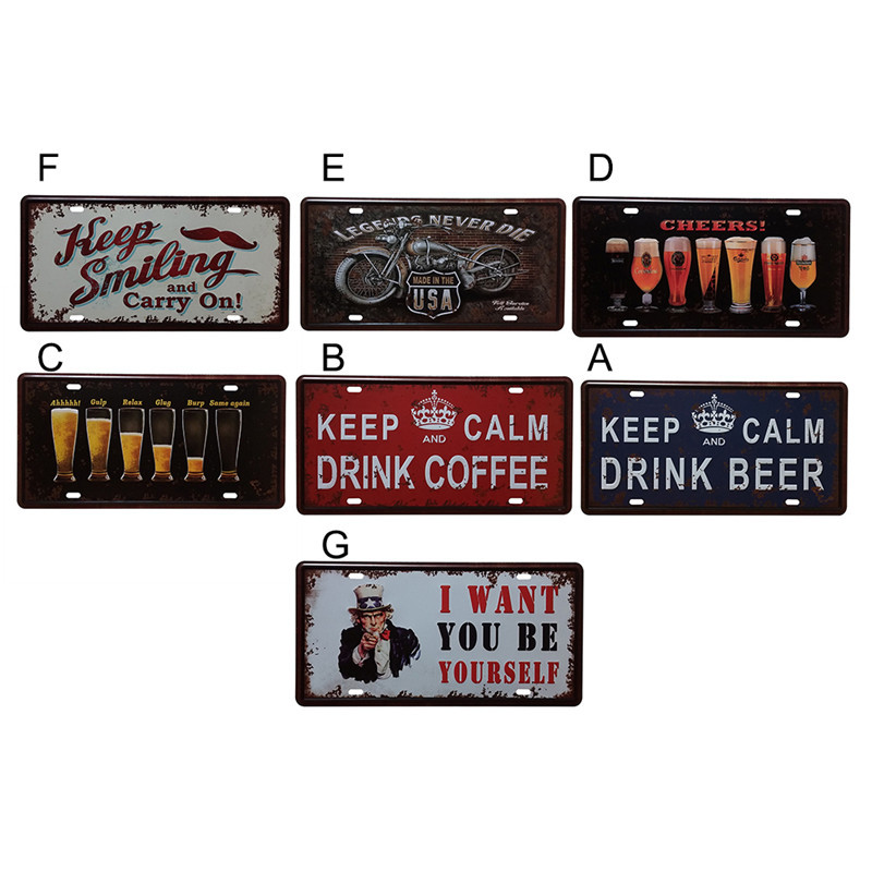 vintage metal tin sign keep calm drink beer retro plaque poster bar pub club wall tavern garage. Black Bedroom Furniture Sets. Home Design Ideas