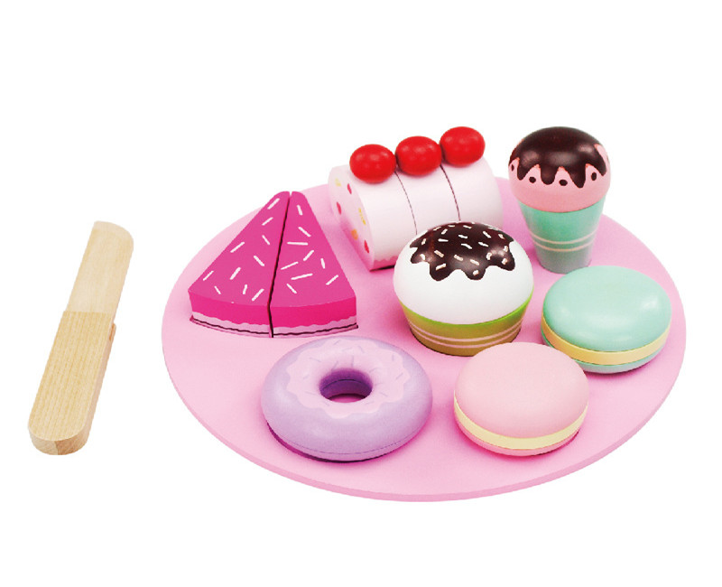 New Wooden Baby Toys Kitchen Cake Toys Baby Educational Toys