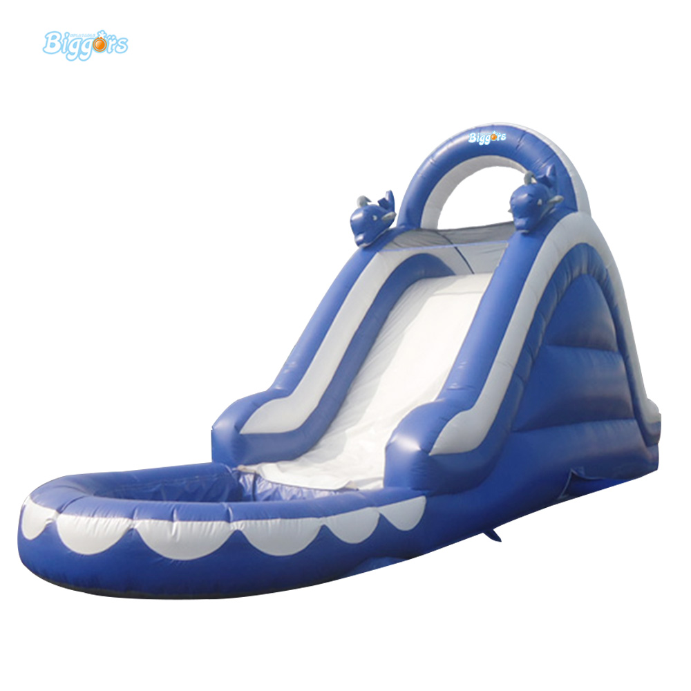 Commercial Amusement Inflatable Wet Slide for Water Games 6 4 4m bounce house combo pool and slide used commercial bounce houses for sale