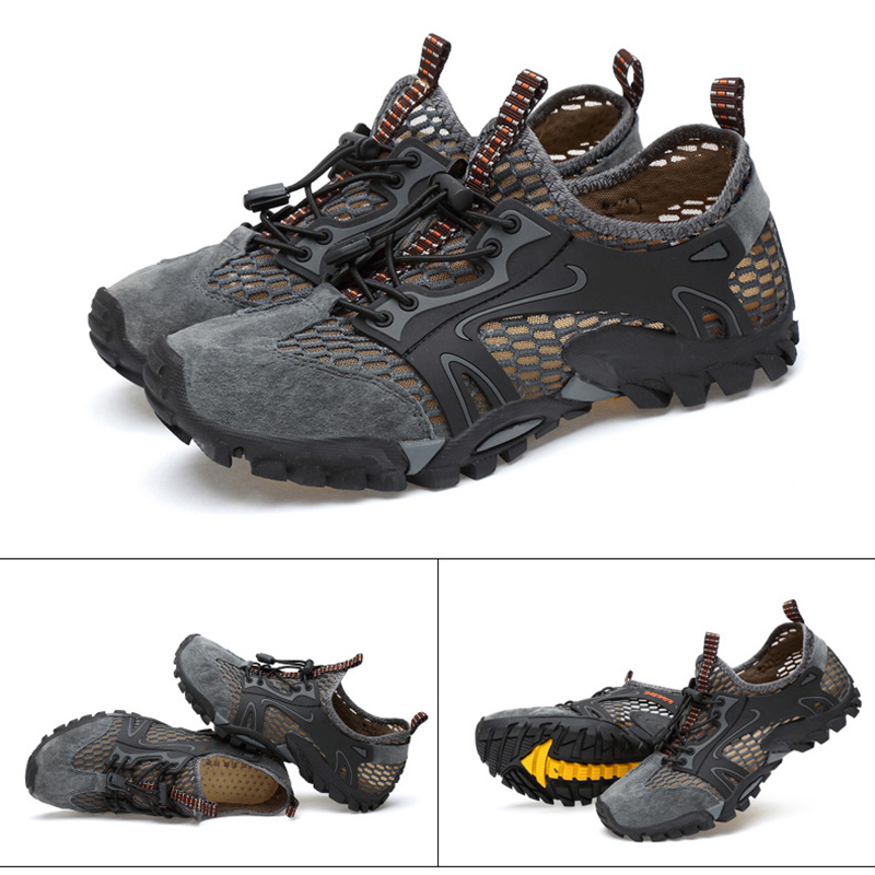 Men Breathable Mesh Shoes Outdoor Hiking Camping Light Quick Drying Shoes Best Sale-WT