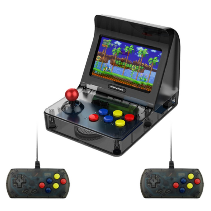 купить 4.3 Inch TFT Screen Handheld Game Players With Wired Controllers Support AV OUT MP3 Music Player 26 Languages Game Console недорого