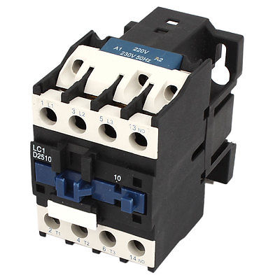 690V 40A 3 Phase 3P 1 NO AC Contactor DIN Rail Mounting Black White sayoon dc 12v contactor czwt150a contactor with switching phase small volume large load capacity long service life