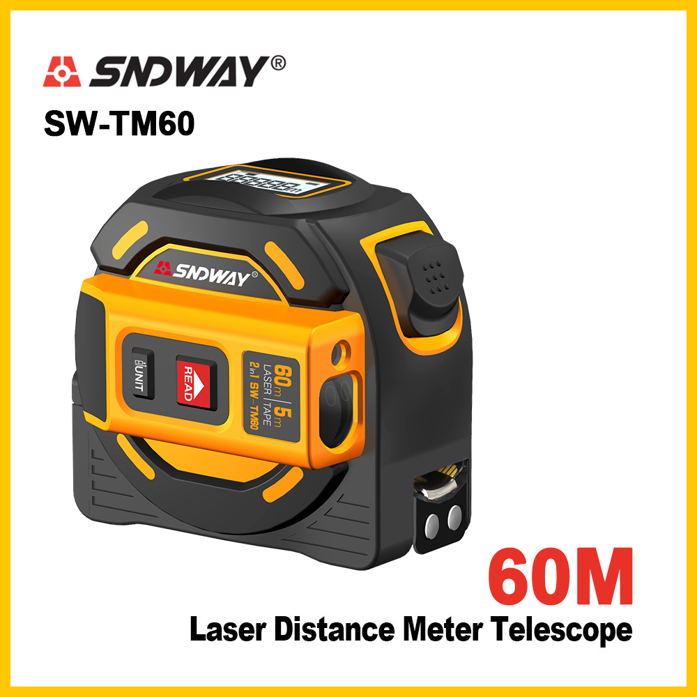 SNDWAY  new  Laser distance meter Laser rangefinder multi function Self Locking  Hand Tool Device Laser range finder-in Laser Rangefinders from Tools