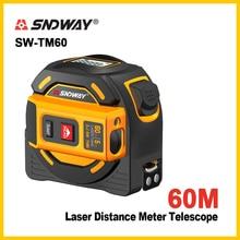Sndway Nieuwe Laser Afstandsmeter Laser Afstandsmeter Multi Functie Zelfsluitende Hand Tool Apparaat Laser Range Finder