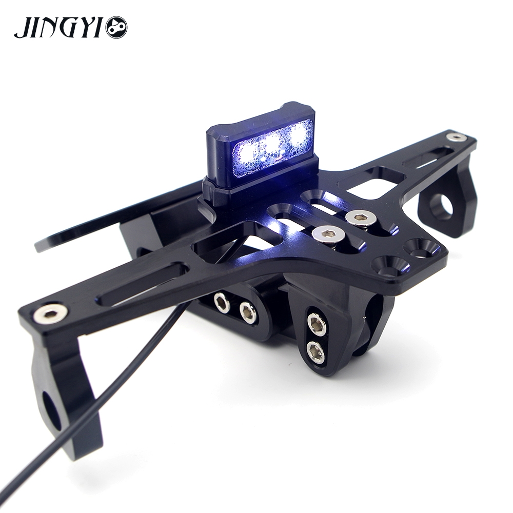 CNC Motorcycle License Plate Holder Moto Rear Tidy Bracket Led Lamp For MT-09 MT09 2017 MT10 NMAX R1 R25 R25 YAMAHA R6 T MAX motorcycle accessories universal fender eliminator license plate bracket tidy tail for kawasaki z750 r3 z800 r6 mt 07 mt09 mt10