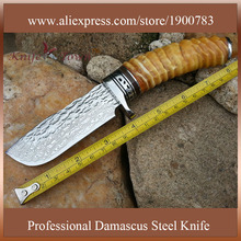 DT110 damascus steel blade knife fixed blade hunting knives bayonet knife army utility combat cs go knife counter strike