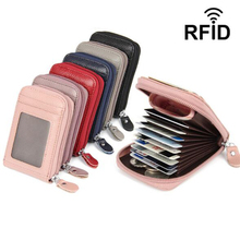 Genuine Leather Unisex Credit Card Holders Organ Female Card Case ID Holder Rfid Wallet Women Business Cardholder Organizer Coin rfid 36 card slots genuine leather women card holders large capacity credit card holder wallet female business card holders bag