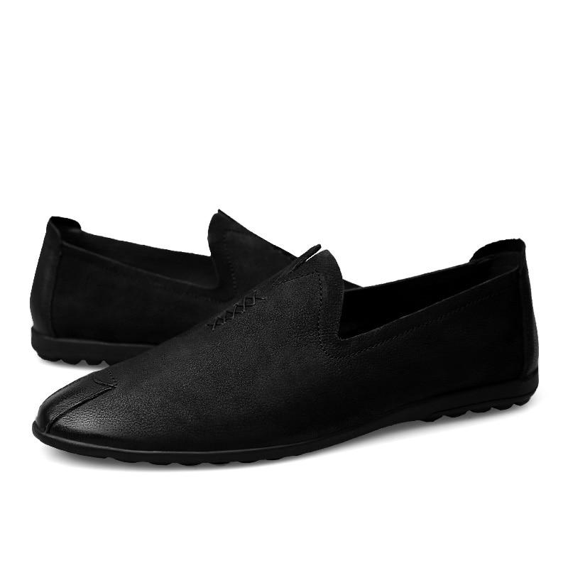 2018 nowy styl mężczyzna przypadkowych butów mokasyny czarny - Buty męskie - Zdjęcie 6