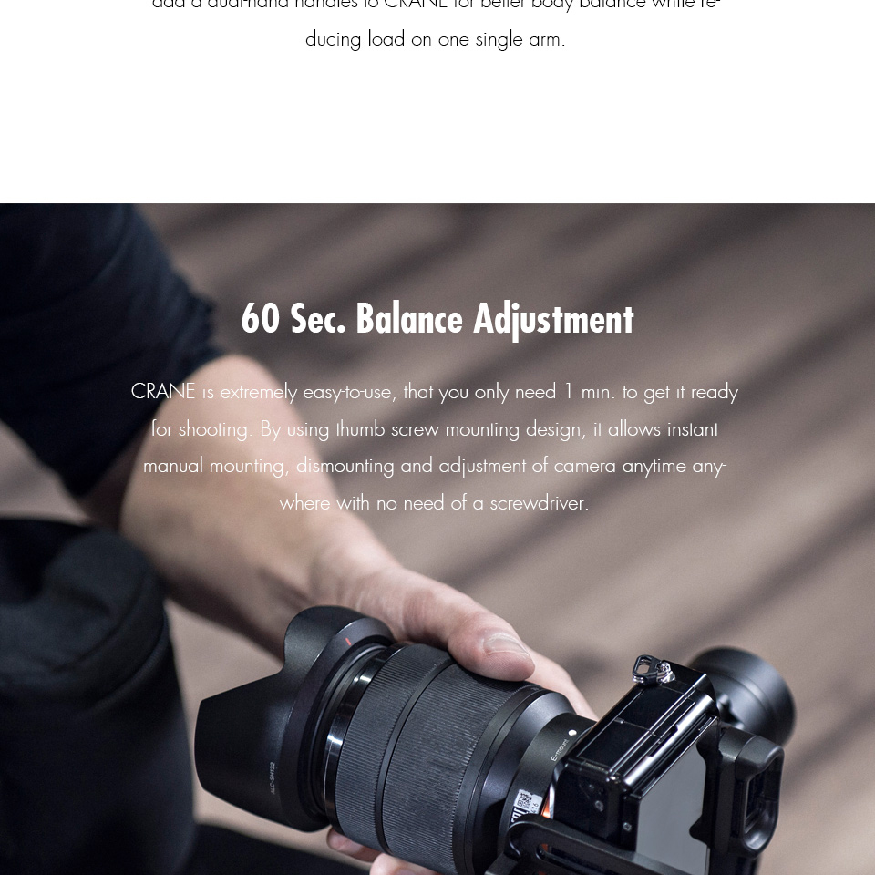 ZHIYUN Official Crane V2 3-Axis Brushless Handheld Gimbal Stabilizer Kitgoodfine