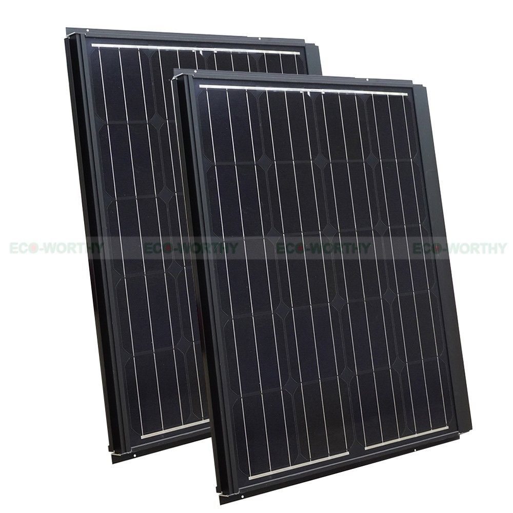 ECO-WORTHY 180W Mono Solar Panel 2*90W for 12V Battery RV Boat Home Off/On Grid System Kit Solar Generators eco worthy 40watt solar panel system off grid complete kit photovoltaic poly solar panel for rv boat cabin