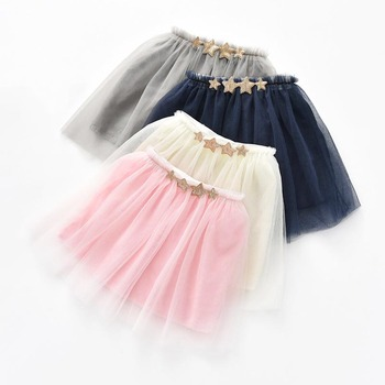97e6192bf Falda Tutus para bebé niñas Pettiskirt meisjes para falda tutú bebe  apliques lentejuelas estrellas 3 capas tul faldas de baile de niño