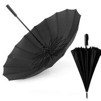 Straight Women's Parapluie Creative Increase 16 Bone Business Automatic Golf Umbrella Windproof Men's Long Umbrella Corporation