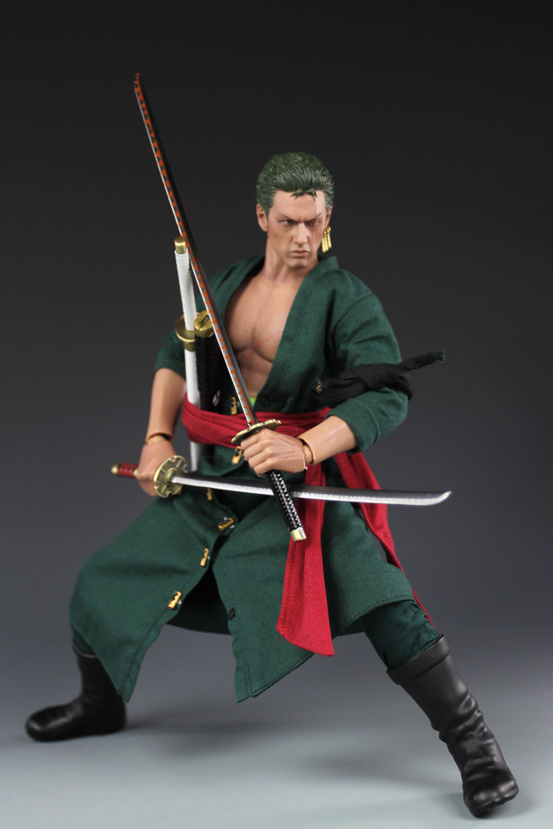 1 6 One Piece Roronoa Zoro Action Figure Collectible Model Toy Gift 12 quot Action Figure Dolls Collections in Action amp Toy Figures from Toys amp Hobbies