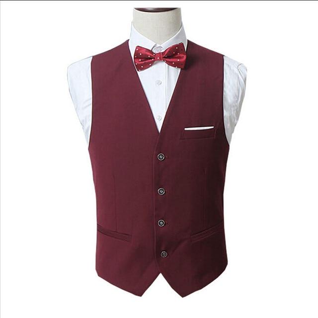 Chalecos de vestir para hombres Slim Fit hombres traje chaleco masculino  chaleco Gilet Homme Casual sin 5d0aa59eb768