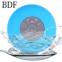 BDF Portable Mini Shower Waterproof Wireless Bluetooth Speaker Sub woofer Car Hands-free Call Music Suction Mic For All Phone