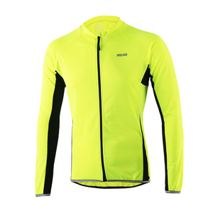 Pro Men's Long Sleeves Cycling Jersey Breathable MTB Clothing Bike Jersey with Reflective Strap Maillot Roupa Ciclismo