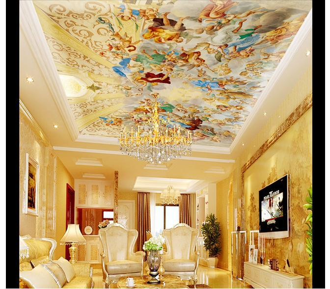 3d wallpaper custom 3d ceiling wallpaper murals royal ...