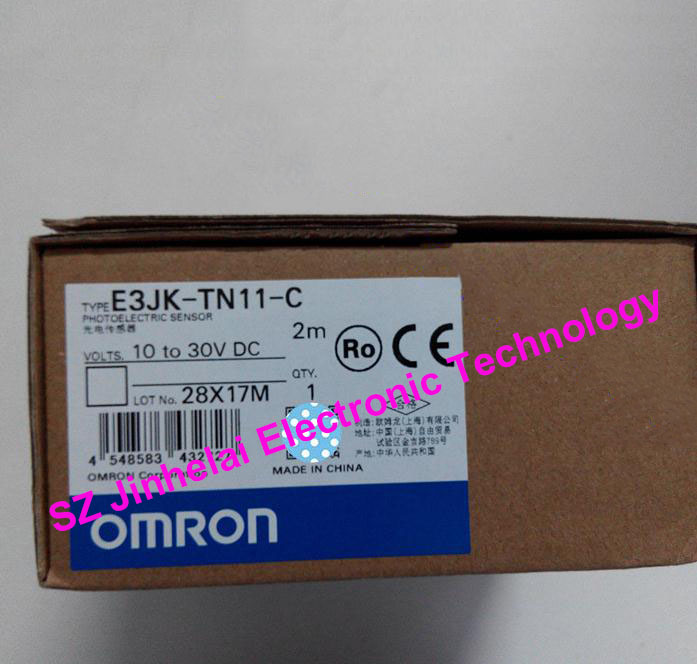 New and original OMRON  PHOTOELECTRIC SWITCH SENSOR E3JK-TN11-C   2M 10-30VDC цена