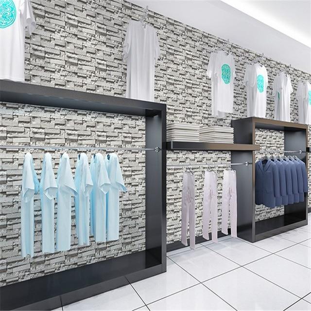 Beibehang Chinesischen Stil Esszimmer 3D Tapete Stein Ziegel Design  Hintergrund Wand Vinyl Tapete Für Moderne Wohnzimmer