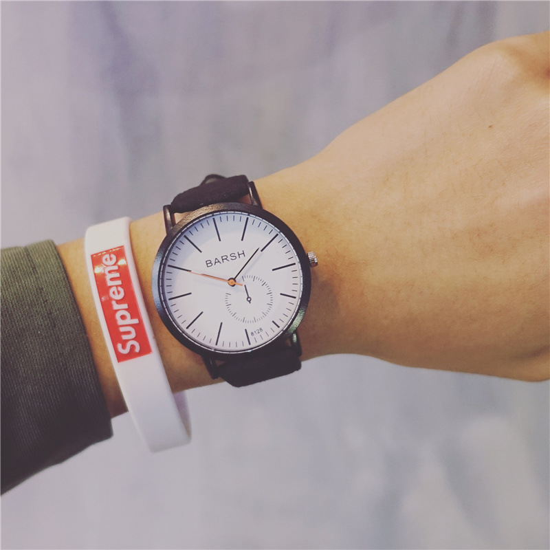 2018 Minimalist Style Creative Men Wristwatches Casual Simple Stylish Male Quartz Watches Man Boy Student Leather Watch Gift