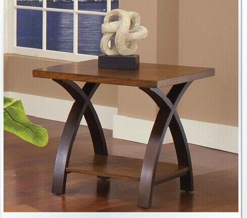 Americana continental muebles de madera caf peque o sof mesa auxiliar peque o mesa redonda - Mesita auxiliar sofa ...