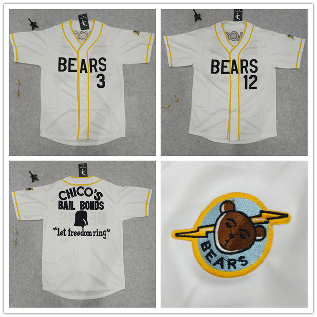 5fdf4509932 Bad News Bears #12 Tanner Boyle #3 Baseball Jersey Stitched Numbers Cheap  Throwback Short Sleevele