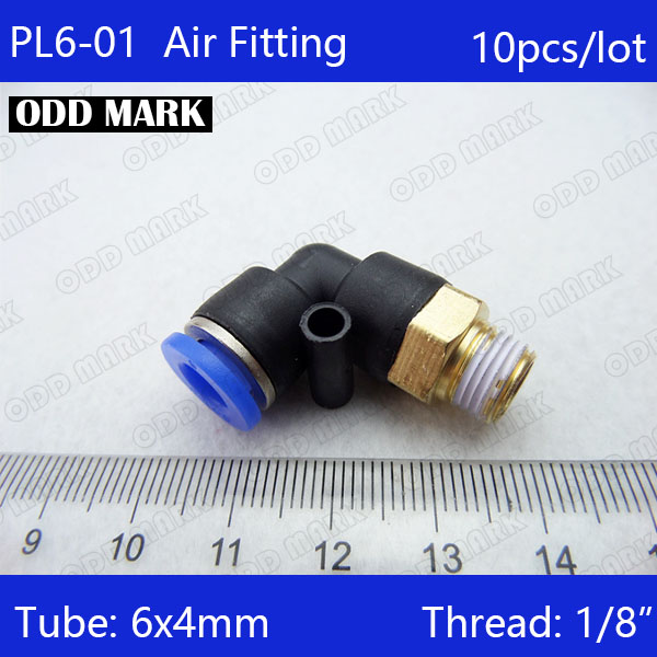 PL6-01 Free shipping 10Pcs 6mm Push In One Touch Connector 1/8 Thread Pneumatic Quick Fittings free shipping 30pcs 6mm push in one touch connector 1 4 thread pneumatic quick fittings pl6 02