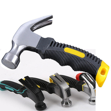 Multifunctional claw hammer round head rubber handle woodworking tools