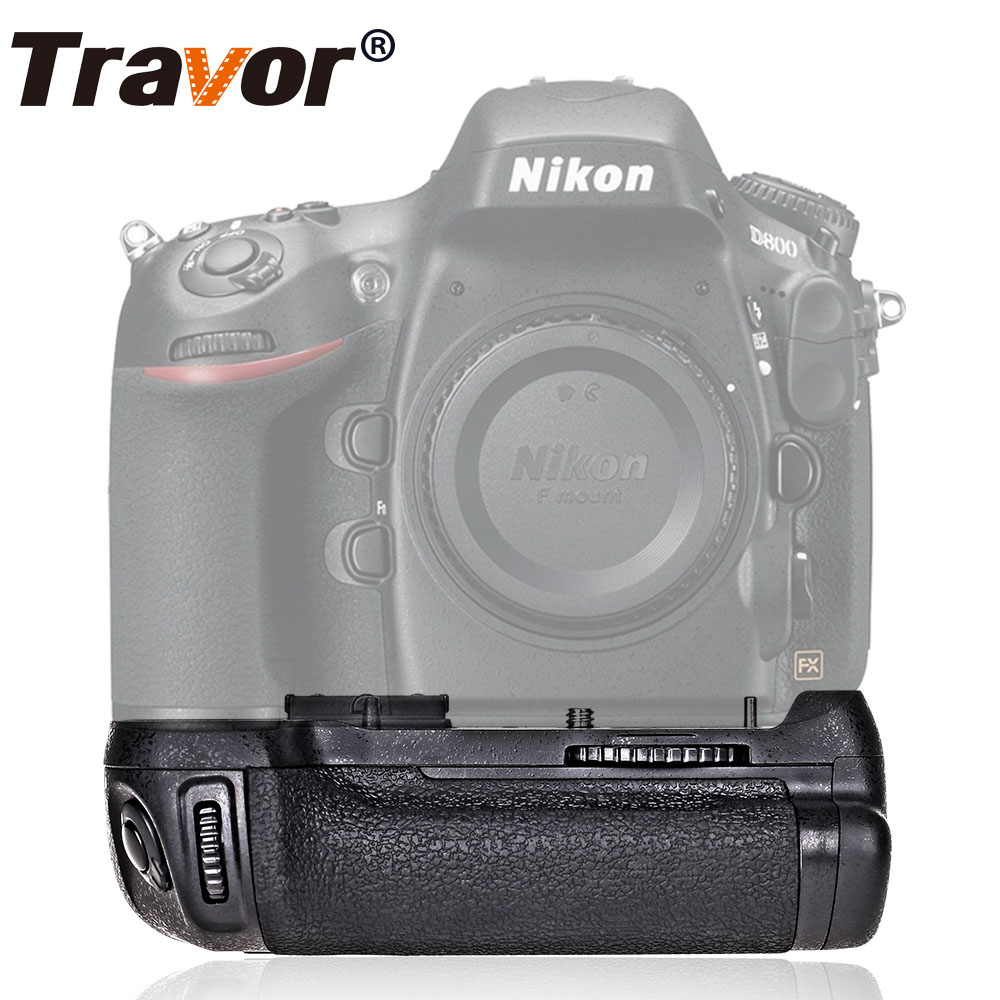 Travor Professional Multi Power Battery Grip för Nikon D800 D800E DSLR-kamera som MB-D12 MBD12