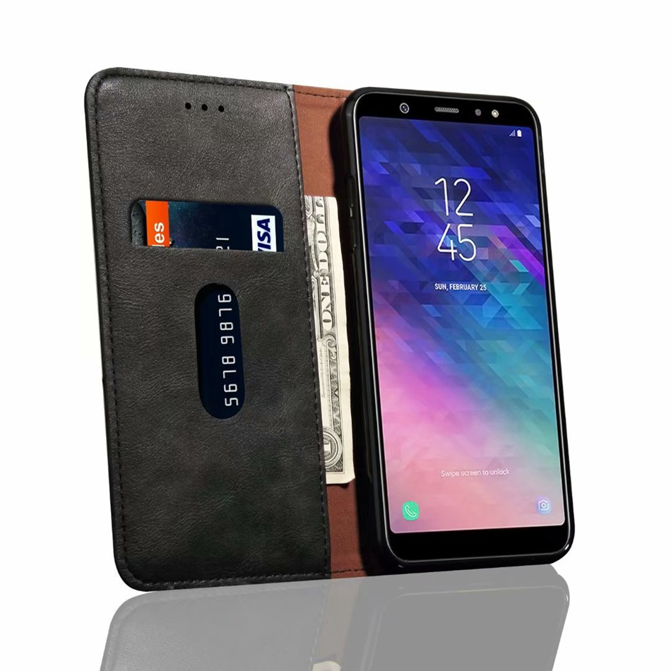 49a89f97e6d Aliexpress.com   Buy Luxury Flip Leather Case For Samsung Galaxy J6 2018  Case Wallet Pouch Style Cover For Samsung J6 2018 Phone Cases from Reliable  Flip ...
