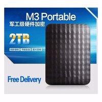 USB3.0New M3 2.5 External Hard Drive 2TB Black HDD 500GB 1TB hdd Portable disk Hot sales 3 Year Warranty