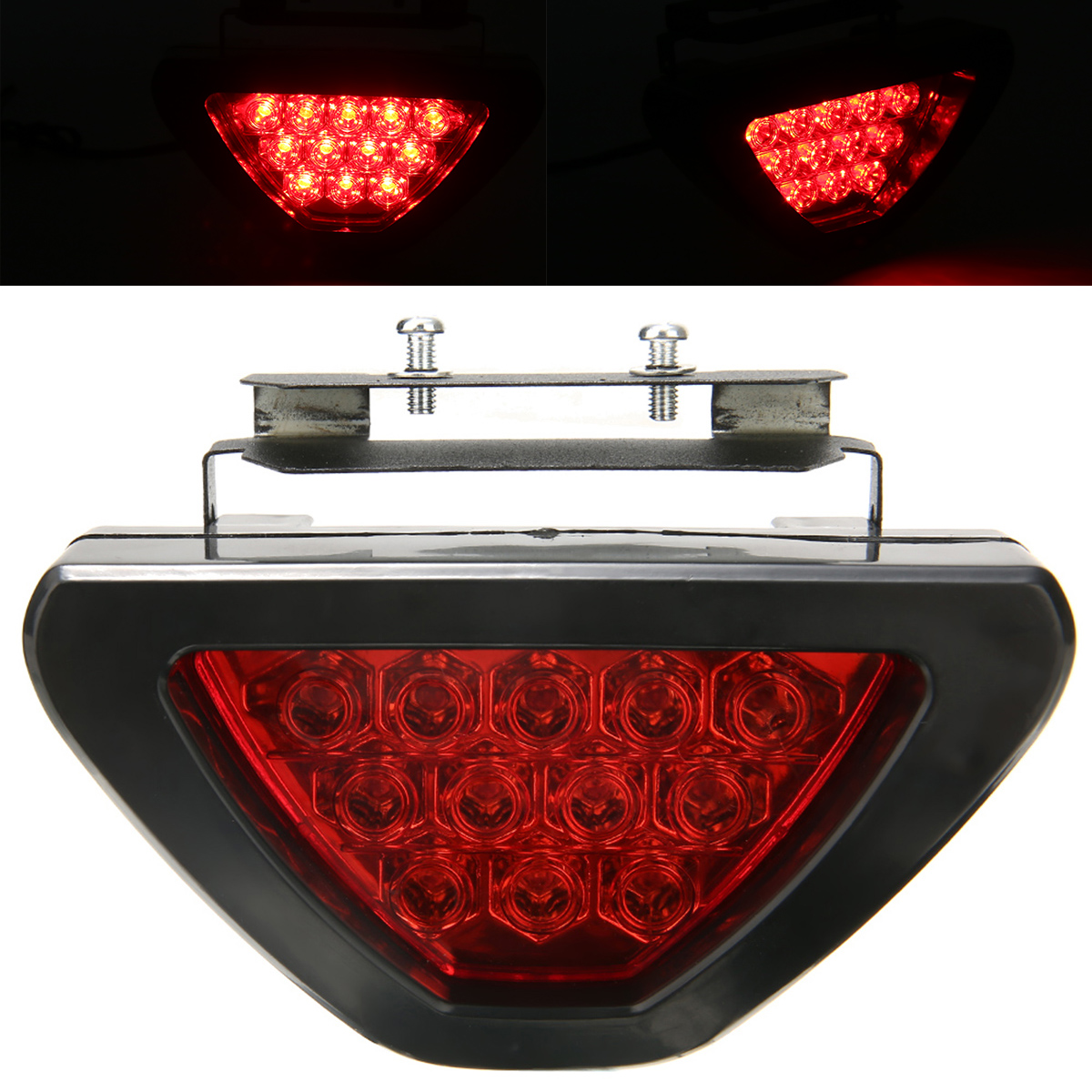 Image 4 - For Car Truck Brake Lights Universal F1 Style 12 LED Red Rear Tail Third Brake Stop Light Safety Signal Lamp-in Signal Lamp from Automobiles & Motorcycles