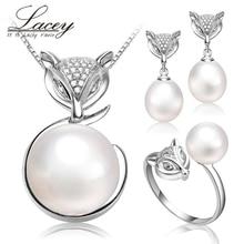 De agua dulce natural perla conjuntos muchacha de las mujeres de regalo de boda, 925 de plata fina de novia real perla sistemas de la joyería de cumpleaños de los niños