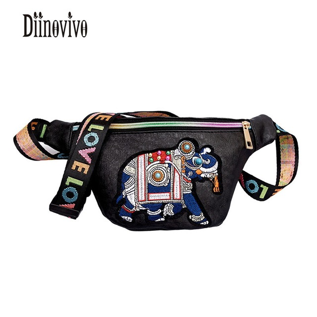 DIINOVIVO Multifunction New Arrivals Belt Bags Rivet Casual Womens Chest pack Letter PU Leather Shoulder Bags Fanny Pack DNV0435