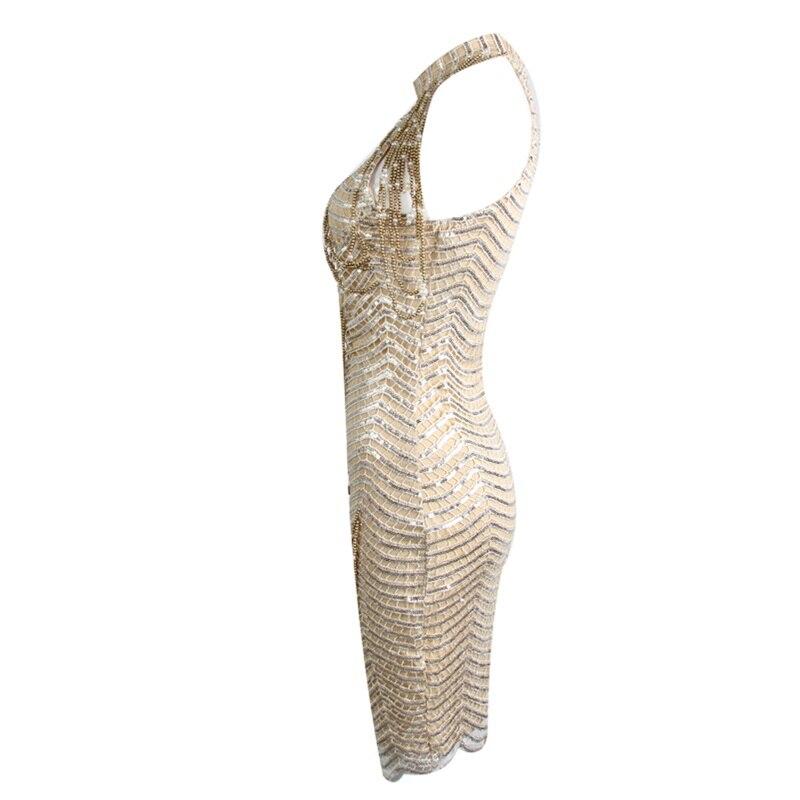 Party Club D'été 2018 Picture Mini Femmes Paillettes Moulante Robes Sans Qualité As Manches Robe Nouvelle Halter Sexy Perles Haute Arrivée qgwPZqn6