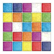 Cocotik Peel-N-Stick 3D Kitchen Backsplash Wall Tile Vinyl Sticker, 10 x Square Colorful Design (Pack of 10)