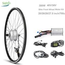 36 В 48 В 350 Вт Электрический контроллер велосипед конверсионный комплект MTB дорожный велосипедный концентратор 24 дюймов велосипедный мотор переднего колеса ЖК 5 BLDC комплект