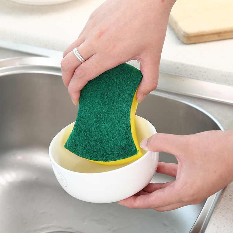 10 adet yüksek yoğunluklu sünger Mutfak Temizlik Araçları Yıkama Havlu silme bezi Sünger Ovma Pedi Mikrofiber bulaşık temizleme Bezi