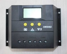 12V/24V 50A Solar System Auto Regulator Charger Controllers LCD Display Solar Battery Charge PWM Charging for Lighting