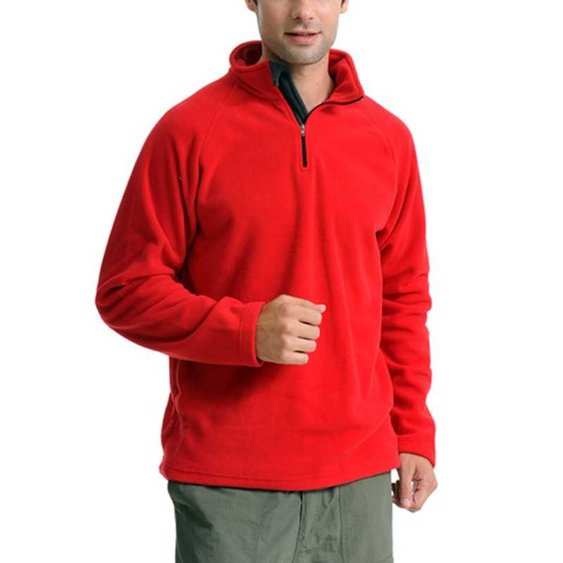 Männer Mantel Thermische Fleece Jacke Outdoor Winddicht Camping Wandern Jagd Half Zip Fleece Top Jacke