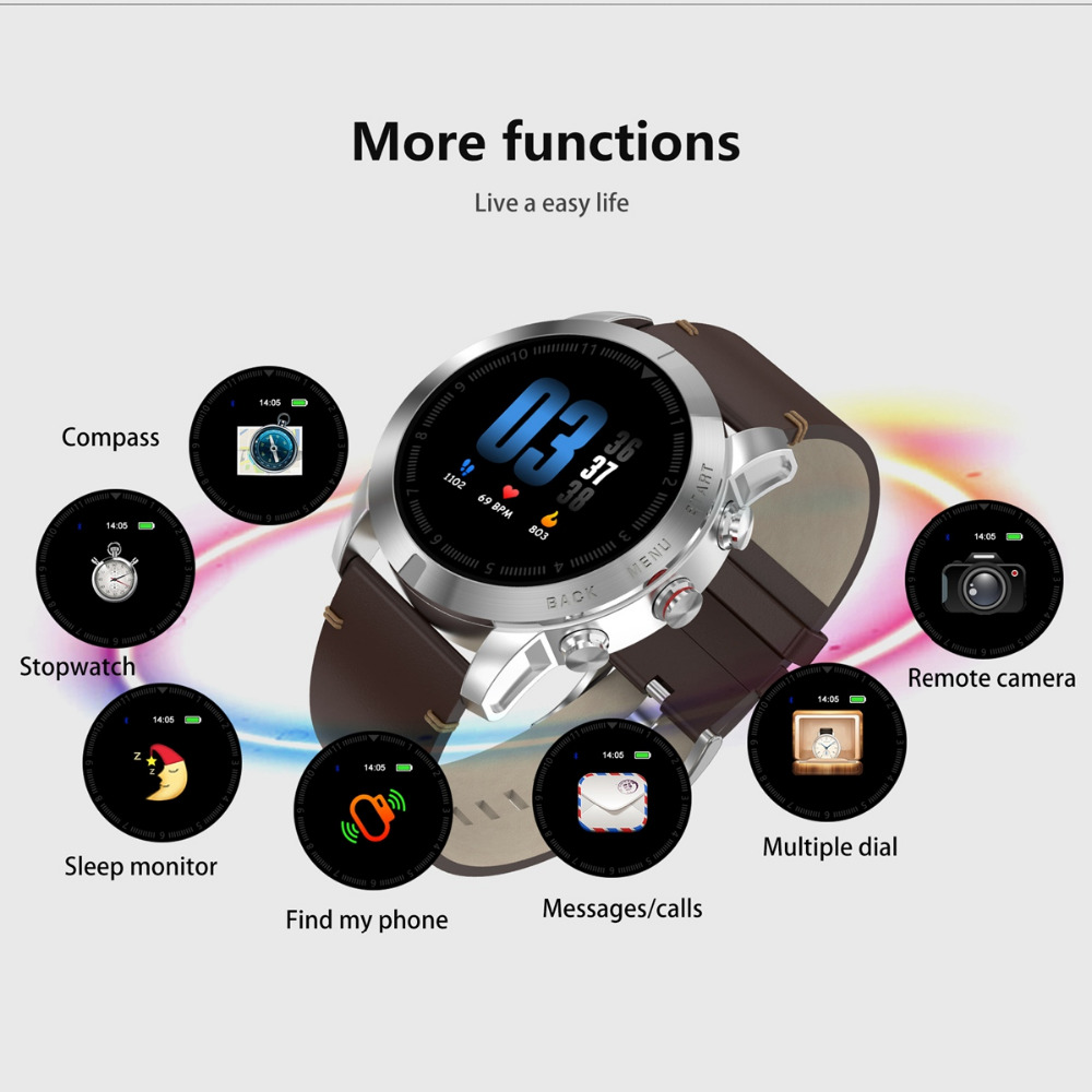 S10 Souch Screen Smart Watch Sedentary Reminder Outdoor Compass Heart Rate Multi function Digital Sports Bluetooth Watch in Smart Watches from Consumer Electronics