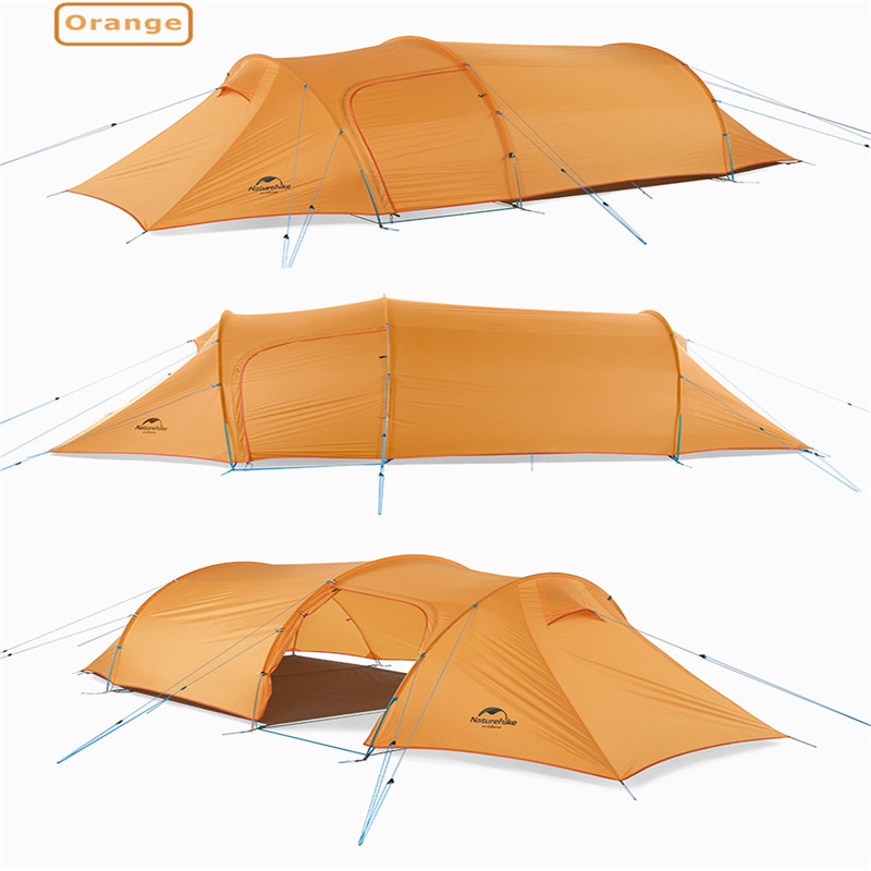 2019 nature randonnée nouveau Tunnel ultra-léger Double tente Camping en plein air randonnée 3 personnes tente NH17L001-L